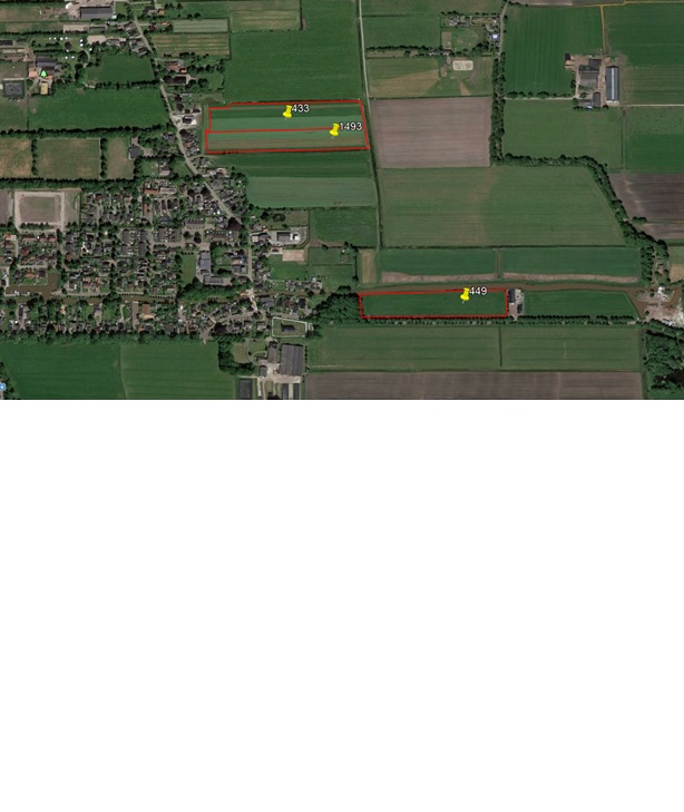 2 percelen grasland gelegen aan de Slachtedyk en aan de Binnendyk te Ryptsjerk